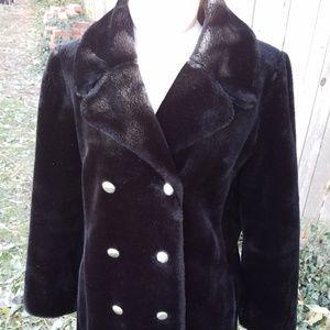 Black teddy pea coat